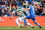Jose Angel Cote of SD Eibar (L) fights for the ball with Portillo Soler of Getafe CF (R) during the La Liga 2017-18 match between Getafe CF and SD Eibar at Coliseum Alfonso Perez Stadium on 09 December 2017 in Getafe, Spain. Photo by Diego Souto / Power Sport Images