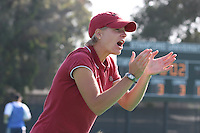 6 November 2007: Stanford Cardinal assistant coach Mandy Hart during Stanford's 1-0 win against the Lock Haven Lady Eagles in an NCAA play-in game to advance to the NCAA tournament at the Varsity Field Hockey Turf in Stanford, CA.