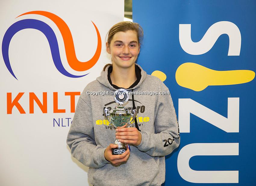 Rotterdam, The Netherlands, March 13, 2016,  TV Victoria, NOJK 12/16 years, Runner up girls 16 years Lara Panfilov (NED) <br /> Photo: Tennisimages/Henk Koster