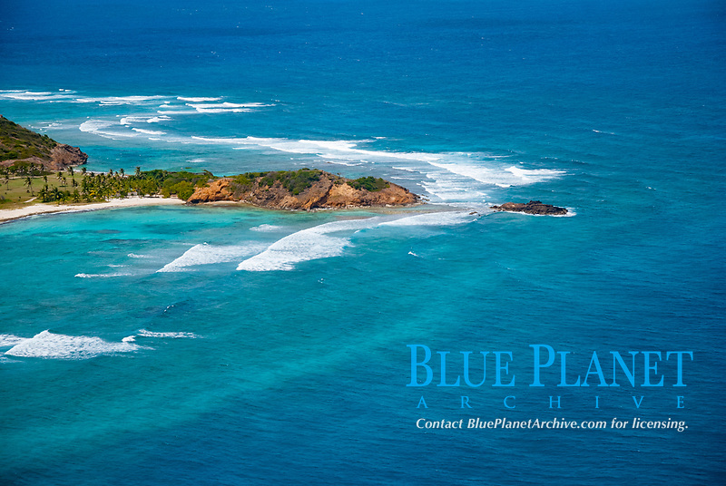 aerial view of Petit St Vincent, Saint Vincent and the Grenadines, Caribbean Sea, Atlantic Ocean