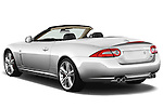 Rear three quarter view of a 2011 Jaguar XKR Convertible