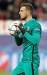 Atletico de Madrid's Jan Oblak during Champions League 2015/2016 Quarter-Finals 2nd leg match. April 13,2016. (ALTERPHOTOS/Acero)