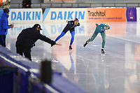 SCHAATSEN: HEERENVEEN: 01-11-2020, IJsstadion Thialf, Daikin NK Afstanden 2020, Jorrit Bergsma en Marwin Talsma, ©foto Martin de Jong