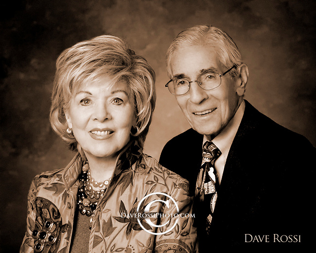 New York Yankees legend and Baseball Hall of Fame player Phil Rizzuto & wife Cora Rizzuto in their 60th Wedding Anniversary Portrait. This image was taken for use on the Jumbotron at Yankee Stadium to announce their anniversary during the game, for the cover of the Italian Tribune and multiple other magazines, and for their home and family.