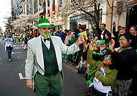 Thousands of people turned out to watch the annual St. Patrick's Day Parade in Uptown/Downtown Charlotte, North Carolina.