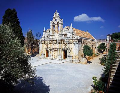 Griechenland, Kreta, bei Rethymnon: Kloster Arkadi - Klosterkirche | Greece, Crete, near Rethymnon: Monastery of Arkadi - minster