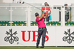 Scott Barr of Australia tees off the first hole during the 58th UBS Hong Kong Golf Open as part of the European Tour on 08 December 2016, at the Hong Kong Golf Club, Fanling, Hong Kong, China. Photo by Marcio Rodrigo Machado / Power Sport Images