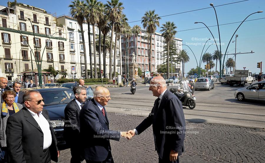 - NAPOLI 19 GIU  2014 -  il capo dello Stato Giorgio  con  con Maurizio Marinella