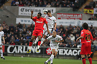 Pictured: Ferrie Bodde of Swansea City in action<br />
