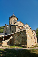 Pictures and images of St Nicholas Church in the historic medieval Kintsvisi Monastery Georgian Orthodox Monastery complex, Shida Kartli Region, Georgia (country).<br /> <br /> Kintsvisi Monastery is the best preserved example of Georgian architecture of the 12th and 15th centuries, the so called Georgian Golden Age.