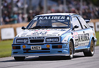 9th July 2021;  Goodwood  House, Chichester, England; Goodwood Festival of Speed; Day Two; Julian Thomas drives a Ford Sierra Cosworth RS500 in the Goodwood Hill Climb