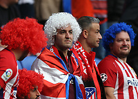 16th May 2018, Stade de Lyon, Lyon, France; Europa League football final, Marseille versus Atletico Madrid; Atletico Madrid with afro coloured hair lwatch the action taking place