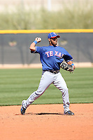 Leury Garcia, Texas Rangers minor league spring training..Photo by:  Bill Mitchell/Four Seam Images.