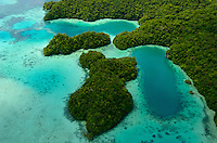 Reef and the Rockislands, aerial view. Palau Micronesia