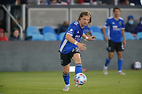 SAN JOSE, CA - MAY 22: Florian Jungwirth #23 of the San Jose Earthquakes during a game between Sporting Kansas City and San Jose Earthquakes at PayPal Park on May 22, 2021 in San Jose, California.
