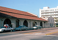 Mission RR Stations: Santa Fe Depot Baggage Building. (It is the last portion that is to be replaced by a 3-story steel building.) Photo '03.