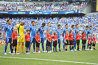 El Salvador national team.  The USMNT defeated El Salvador 5-1 at the quaterfinal game of the Concacaf Gold Cup, M&T Stadium, Sunday July 21 , 2013.