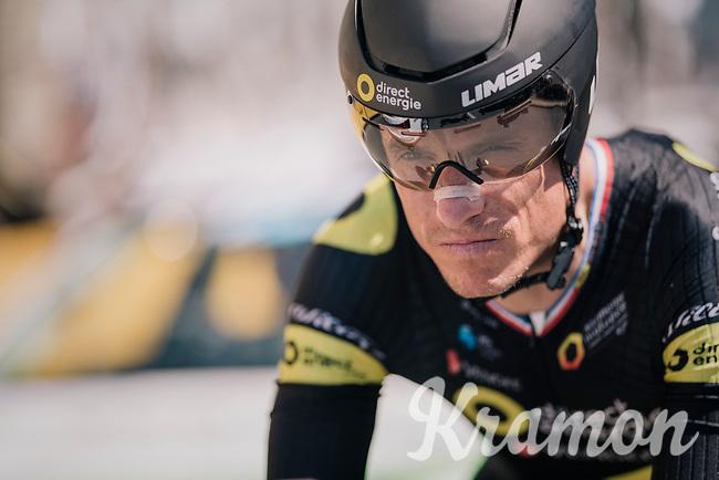 Sylvain Chavanel (FRA/Direct Energie) in his (record breaking) 18th Tour de France!!<br /> <br /> Stage 3 (Team Time Trial): Cholet > Cholet (35km)<br /> <br /> 105th Tour de France 2018<br /> ©kramon