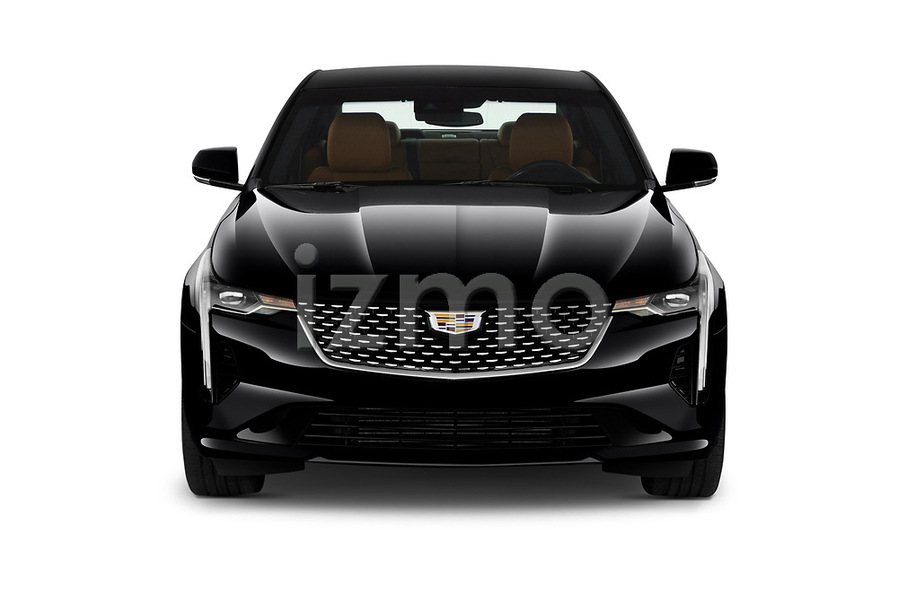 Car photography straight front view of a 2020 Cadillac CT4 Premium-Luxury 4 Door Sedan Front View