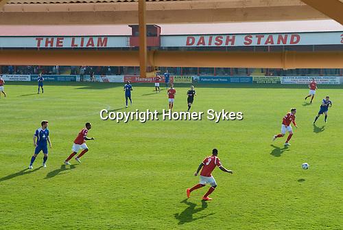 The Fleet football stadium. The Liam Daish Stand. Ebbsfleet v Tunbridge. Ebbsfleet Valley Kent UK. 2014