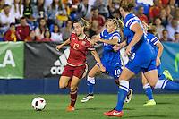 Spain's Barbara Latorre and Finland's Emmi Alanen during the match of  European Women's Championship 2017 at Leganes, between Spain and Finland. September 20, 2016. (ALTERPHOTOS/Rodrigo Jimenez) NORTEPHOTO