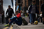 © Joel Goodman - 07973 332324 . 22/05/2016 . Manchester , UK . Pre race warm up photos . The Great Manchester Run in Manchester City Centre . Photo credit : Joel Goodman