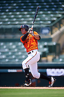 GCL Orioles right fielder Tristan Graham (24) at bat during a game against the GCL Twins on August 11, 2016 at the Ed Smith Stadium in Sarasota, Florida.  GCL Twins defeated GCL Orioles 4-3.  (Mike Janes/Four Seam Images)