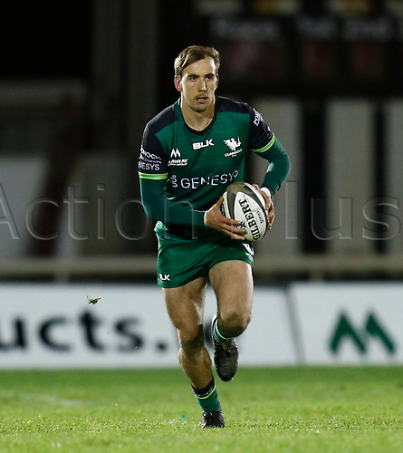 14th November 2020; Galway Sportsgrounds, Galway, Connacht, Ireland; Guinness Pro 14 Rugby, Connacht versus Scarlets; John Porch brings the ball forward in open field for Connacht