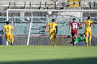 Manuel Iori realizza il gol dello 0-1 Cittadella<br /> Campionato di calcio Serie BKT 2019/2020<br /> Livorno - Cittadella<br /> Stadio Armando Picchi 20/06/2020<br /> Foto Andrea Masini/Insidefoto