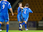 St Johnstone v Queen of the South...21.09.10  CIS Cup 3rd Round.Jopdy Morris celebrates his goal with Alan Maybury.Picture by Graeme Hart..Copyright Perthshire Picture Agency.Tel: 01738 623350  Mobile: 07990 594431