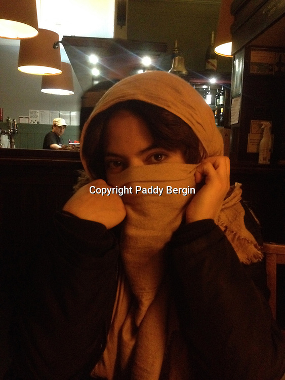 Yasmine in a head scarf.<br /> <br /> Stock Photo by Paddy Bergin