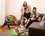 April 7, 2017. Durham, North Carolina.<br /> <br /> (clockwise from top left) Daycare teacher Jeannene Schnell, Nido owners Tiff Frye and Lis Tyroler, with Frye's daughter Ada Brown, and Tyroler's children Desmond Romine Tyroler and Sebastian Tyroler Romine.<br /> <br /> Nido is a co-working space which also offers a Montessori preschool on site. Catering to working parents with morning and afternoon preschool shifts, Nido has thrived and is actively looking for a larger space. <br /> <br /> <br /> <br /> Jeremy M. Lange for The New York TImes