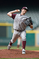 Kyle Thebeau #11 of the Texas A&M Aggies in action versus the UC-Irvine Anteaters  in the 2009 Houston College Classic at Minute Maid Park February 27, 2009 in Houston, TX.  The Aggies defeated the Anteaters 9-2. (Photo by Brian Westerholt / Four Seam Images)
