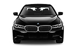 Car photography straight front view of a 2021 BMW 5-Series 530i-Sport 4 Door Sedan Front View