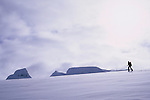 Dimitri Fagart during the ski ascent of Lodalskapa, Jostedalsbreen, Norway, 2006