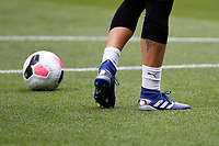 Vicente Guaita of Crystal Palace cuts holes into the back of his boots during the pre season friendly match between Crystal Palace and Hertha BSC at Selhurst Park, London, England on 3 August 2019. Photo by Carlton Myrie / PRiME Media Images.