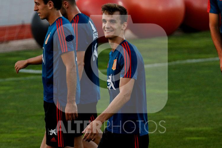 Diego Llorente during the Trainee Session at Ciudad del Futbol in Las Rozas, Spain. September 02, 2019. (ALTERPHOTOS/A. Perez Meca)