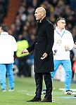 Real Madrid's coach Zinedine Zidane during Champions League 2016/2017 Round of 16 1st leg match. February 15,2017. (ALTERPHOTOS/Acero)