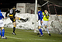 04/12/2010   Copyright  Pic : James Stewart.sct_jsp021_allao_v_peterhead  .:: PETERHEAD KEEPER JON BATEMAN MAKES A POINT BLANK SAVE FROM STUART NOBLE LATE ON IN THE SECOND HALF ::.James Stewart Photography 19 Carronlea Drive, Falkirk. FK2 8DN      Vat Reg No. 607 6932 25.Telephone      : +44 (0)1324 570291 .Mobile              : +44 (0)7721 416997.E-mail  :  jim@jspa.co.uk.If you require further information then contact Jim Stewart on any of the numbers above.........