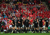 The teams tangle after a stoppage during the 2017 DHL Lions Series 2nd test rugby match between the NZ All Blacks and British & Irish Lions at Westpac Stadium in Wellington, New Zealand on Saturday, 1 July 2017. Photo: Dave Lintott / lintottphoto.co.nz
