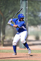 Kansas City Royals catcher Xavier Fernandez (43) during an Instructional League game against the Cincinnati Reds on October 16, 2014 at Goodyear Training Facility in Goodyear, Arizona.  (Mike Janes/Four Seam Images)