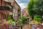 Frankreich, Grand Est, Elsass, Departement Bas-Rhin, Wissembourg (Weissenburg): malerisches Ambiente am Lauterkanal | France, Grand Est, Alsace, Departement Bas-Rhin, Wissembourg: picturesque ambience at Lauter-Channel