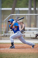 New York Mets Enmanuel Zabala (67) bats during a minor league Spring Training game against the St. Louis Cardinals on March 28, 2017 at the Roger Dean Stadium Complex in Jupiter, Florida.  (Mike Janes/Four Seam Images)