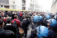 Lavoratori del gruppo Competence (ex Jabil) manifestano davanti al Ministero delle Attivita' Produttive, Roma, 8 febbraio 2011..UPDATE IMAGES PRESS/Riccardo De Luca