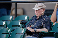 Boston Red Sox scout Joe McDonald during a Florida State League game between the Palm Beach Cardinals and Lakeland Flying Tigers on May 22, 2019 at Publix Field at Joker Marchant Stadium in Lakeland, Florida.  Palm Beach defeated Lakeland 8-1.  (Mike Janes/Four Seam Images)