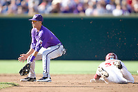 TCU's Pena, Jerome 2253.jpg against Florida State at the College World Series on June 23rd, 2010 at Rosenblatt Stadium in Omaha, Nebraska.  (Photo by Andrew Woolley / Four Seam Images)