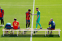 Spain's Marco Asensio (l) and David De Gea during training session. June 5,2018.(ALTERPHOTOS/Acero) /NortePhoto.com NORTEPHOTOMEXICO