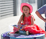 Six-year-old Nevaeh during the Reno Rodeo Parade on Saturday, June 22, 2019.