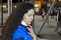 East Hartford, Connecticut - October 16, 2018: International friendly (Kickoff Series). U.S. Men's National Team (USMNT) (blue) tied Peru (red), 1-1, at Pratt and Whitney Stadium on Rentschler Field.<br /> East Hartford, Connecticut - October 16, 2018: International friendly (Kickoff Series). U.S. Men's National Team (USMNT) (blue) tied Peru (red), 1-1, at Pratt and Whitney Stadium on Rentschler Field.