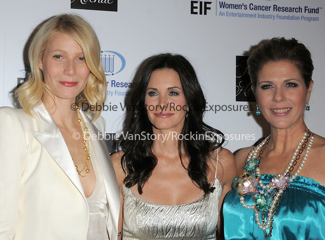 """Gwyneth Paltrow Martin,Courteney Cox Arquette & Rita Wilson at The Saks Fifth Avenue's """"Unforgettable Evening"""" benefiting EIF's Women's Cancer Research Fund held at The Beverly Wilshire Hotel in Beverly Hills, California on February 10,2009                                                                     Copyright 2009 Debbie VanStory/RockinExposures"""